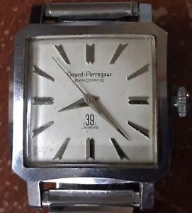 Vintage Girard Perregaux Gyromatic 39 Jewels Wristwatch Not Running