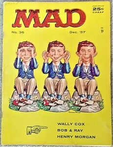 MAD Magazine #36 Dec 1957! FINE! 6.0! $0.99 Start! A SOLID EARLY MAD CLASSIC!!!