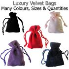 Velvet Pouches Jewellery Bags Watches Drawstring Gift Wrapping Pack Bracelet UK