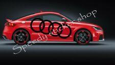 2x audi sticker logo rings LARGE car side decals 150CM X 52CM