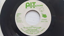 THE SURVIVORS - All You Have to Do is Care/ Think Green '73 PRIVATE FOLK PSYCH