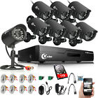 XVIM 8CH 1080P Security Camera System HDMI Outdoor IR Night Vision CCTV DVR 1TB