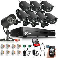 XVIM 8CH 720P Home Security Camera System HDMI Outdoor Night Vision CCTV DVR 1TB