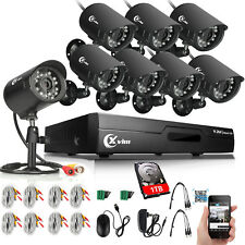 XVIM 8CH 720P Home Security Camera System HDMI Outdoor Night Vision CCTV DVR 1TB