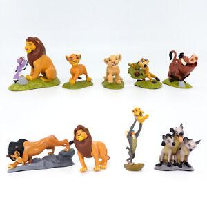 9 pcs The lion King 9cm cake topper play toy figure gift model Simba Nala Rafiki