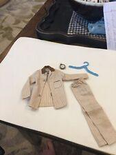 1961 Barbie Ken Sleeper Set Pajamas #781 Brown White Striped Shirt Pants Clock