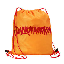 "WWE Hulk Hogan ""Hulkamania"" Drawstring Bag Official New Rare"