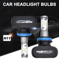 NIGHTEYE- H11 LED Headlight 50W 8000LM Globe 6500K HID White Fog Bulbs Kit New!!