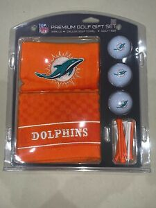 Miami Dolphins Golf Gift Set with Embroidered Towel [NEW] NFL Ball Tee Links