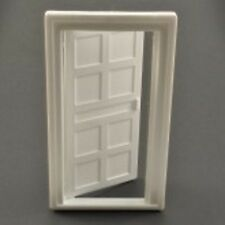 DOLLS HOUSE WOODGRAIN DOOR WHITE PLASTIC 1/16 SCALE DOLLS HOUSE DOOR
