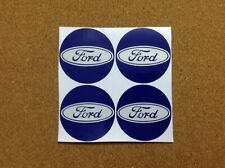 Ford Wheel badge Blue reflective 40mm Stickers Alloy Centre Emblem