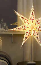 Standing White star with red accents 2016 light lamp 70cm