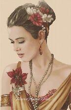 ART DECO cross stitch chart ART DECO LADY 221 Flowerpower 37-Uk