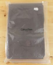NEW Calvin Klein Double Row Cord Brown 100% Pure Combed Cotton Queen Flat Sheet