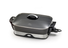 "16"" Foldaway Skillet w/Lid Electric Stainless Steel Adjustable Thermostat"