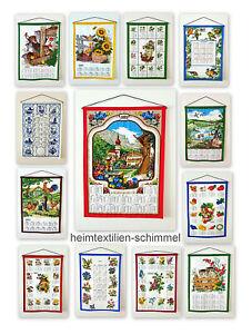 Textiler Wandkalender 2022 Textilkalender Stoffkalender Kalender Baumwolle 45x65