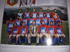 FOOTBALL COUPURE LIVRE PHOTO COULEUR 20x10 D2 GrA FC GRENOBLE 1989/1990