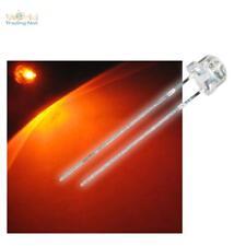 10 LEDs 5mm orange STRAWHEAD RIESEN ABSTRAHLWINKEL, superhell