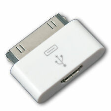 30 Pin Male Dock Connector To Micro USB For iPhone iPad iPod - White Colour