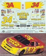 NASCAR DECAL #34 ROYAL OAK CHARCOAL 1996 BGN MONTE CARLO MIKE McLAUGHLIN