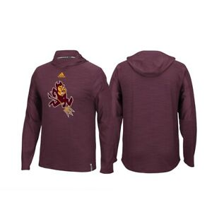 Arizona State Sun Devils NCAA Adidas Maroon Climalite Sideline Training Hood