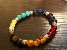 7 Chakra Bracelet. Crystals Healing Stones Beads Jewellery. Mala Reiki anxiety