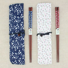 Hot 2 Types Japanese Chopsticks Classic Bamboo Wood Assorted Art Prints Gift Set