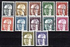 Germany / Berlin - 1970 Definitives Heinemann (I) - Mi. 359-70 VFU