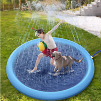 Inflatable Kids Pets Dogs Water Sprinkler Pad Mat Tub Swiming Pool Lawn Outdoor
