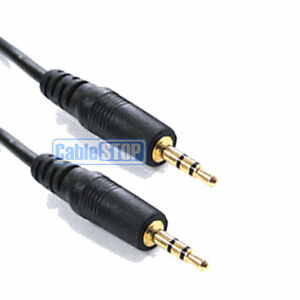 5m GOLD 2.5mm Mini STEREO Jack to Jack Male Plug Audio Headphone Cable Lead