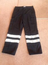 Harbour Lights Trousers - TR324 - Black With Two Silver High-Vis Bands - 34R