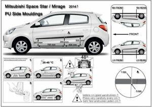 Zierleiste Seitenschutz Türschutz für Mitsubishi Space Star Hatchback 5trg 2012-