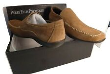 PERRY ELLIS PORTFOLIO NIB Brown Suede Loafers Business Casual Size 10.5