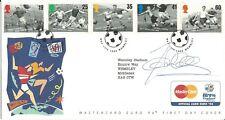 """GB 1996 """"euro 96"""" Fdc Ilustradas firmado por John Colins condn bien."""