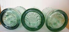 (3) Vintage Coca-Cola Embossed Green 6 Oz. Bottles = NV , SD , VA