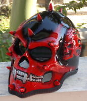 Motorcycle Helmet Novelty Monster Evil Mohawk Punk Skull 3D Design Helmet