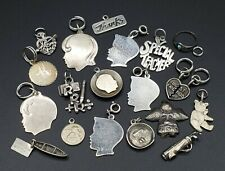 Vintage Sterling Silver CHARM Lot 19 Charms 36.35g for bracelet Wear or Resell