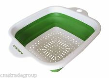 NEW Folding Collapsible Colander Strainer cmsHome Square Non-stick Non-toxic