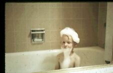 35mm slide - Vintage - Collectibles - Photo - cute boy bath bubbles beard soap