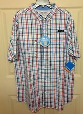 NWT COLUMBIA MEN'S SUPER LOW DRAG SHORT SLEEVE SHIRT SIZE XXL  MULTI COLOR $60
