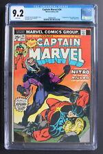 CAPTAIN MARVEL #34 1st NITRO Killer of Mar-Vell 1974 THANOS Starlin CGC NM 9.2