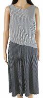 Lauren By Ralph Lauren Womens Sheath Dress White Black Size 0 Striped $125- 425