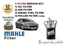 FOR PEUGEOT 407  1.6HDi 3/2008-12/2011 OIL AIR FUEL POLLEN FILTER SERVICE KIT