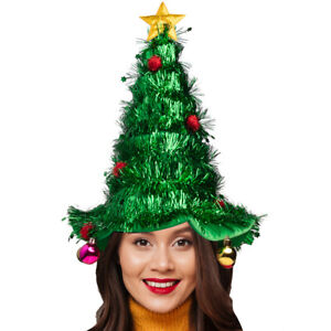 Christmas Tree Hat Holiday Costume Ugly Sweater Party Supplies Men Women Kids