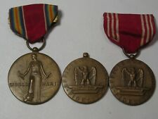 3 Vintage WW2 Military Medals.  #18