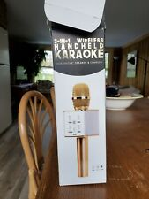 3 in 1 Wireless Handheld Karaoke New Opened Box Gold Color
