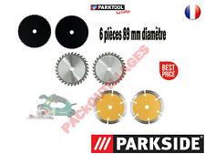 PARKSIDE® Lames pour scie circulaire PTS, 6 pièces, 89 mm diamètre