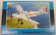 Azur 1/72 Stampe Sv4c France 2 Seater Bi-plane Model Kit 250