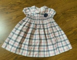 First Impressions Baby Girl Plaid Smocked Dress Size 12 Months