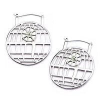 Star Wars Imperial Symbol Black IP Stainless Steel Hanger Earrings